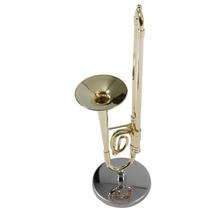 Creative Mini Trombone A Nice Gift For Child Surface Gold Lacquer Mini Trombone Model Musical Instrument Trombone New Arrival