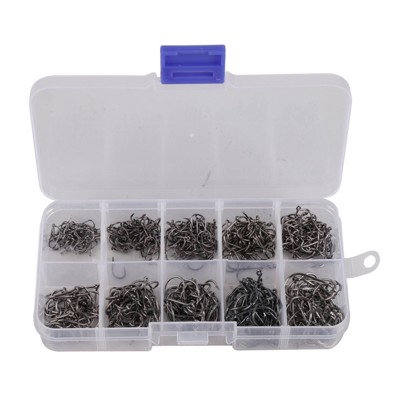 High Carbon Material Fishing Hooks Boxing Suit Combo 210pcs set Fishing Swivels Set Fish Tool Accessory Fishing Tackle in Fishhooks from Sports Entertainment