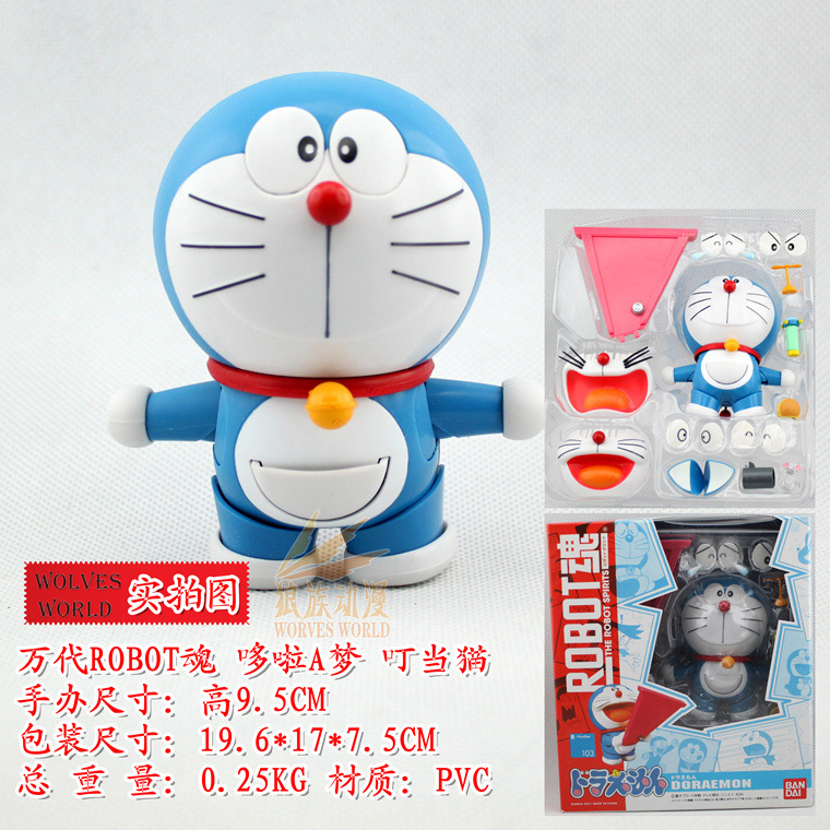 Anime Catoon Cute Doraemon #103 Face Eye Changable PVC Action Figure Toys Girls Boys Children's Gift 10cm KT175 cute doraemon figures toys pvc figure doll can use for phone