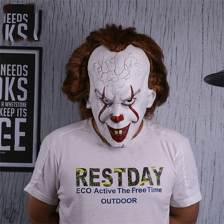 Cosplaydiy Movie Stephen King's It Cosplay Mask Latex Pennywise Horror Clown Joker Mask Halloween Cosplay Accessories