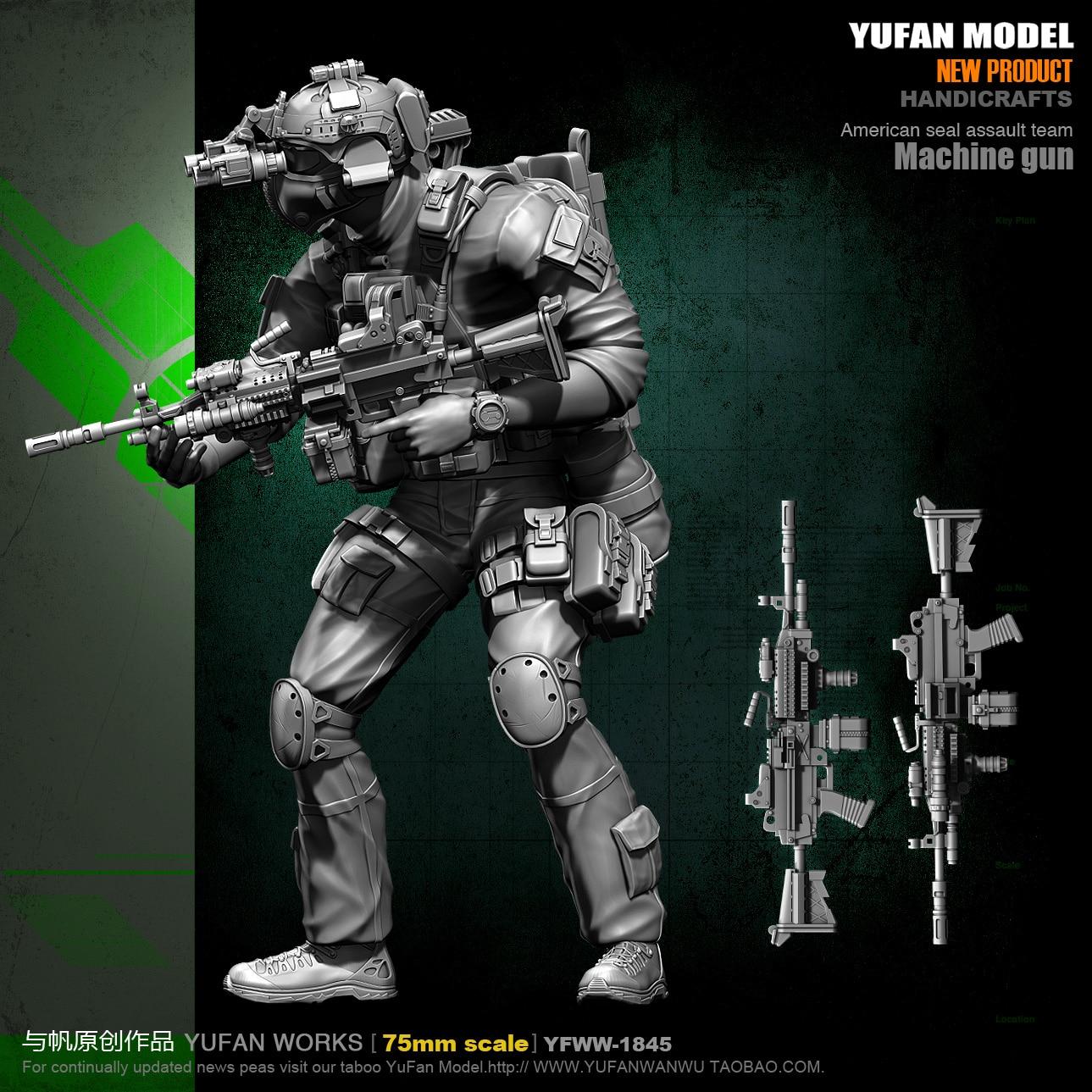 1/24 75mm Resin Figure Model Soldier (with Double Head) YFWW-1845