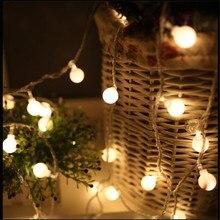 AC220V 5 M 28 Cereza DEL LED bulbo de la Bola luces de la secuencia Garland LED Guirnalda De La Boda Home Party Festival de Navidad decoraciones al aire libre decoración