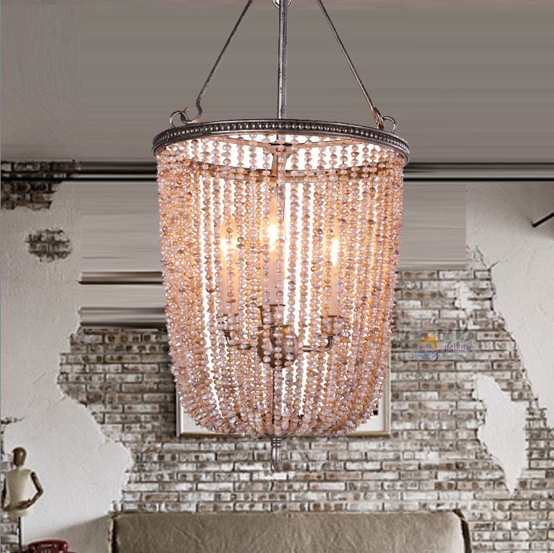Novelty Restaurant LED pearl pendant lamp Italy designed dining Room modern Handmade Natural Pearl pendant lights Iron Bar Lampe