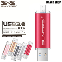 Suntrsi USB Flash Drive 64GB OTG USB 3 0 Pendrive High Speed Metal USB Stick Pen