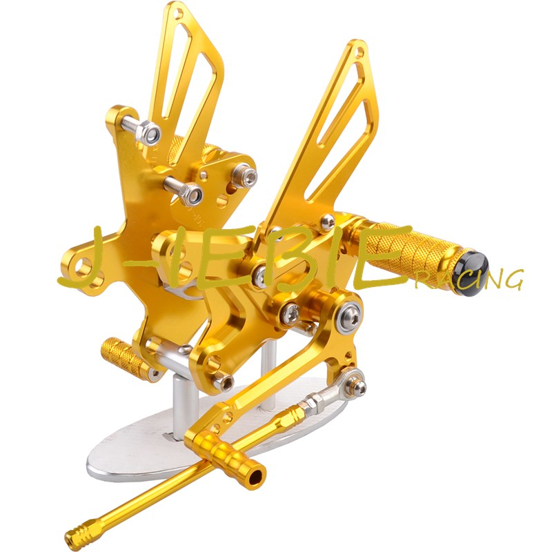 CNC Racing Rearset Adjustable Rear Sets Foot pegs Fit For Kawasaki NINJA ZX10R 2011 2012 2013 2014 2015 GOLD morais r the hundred foot journey