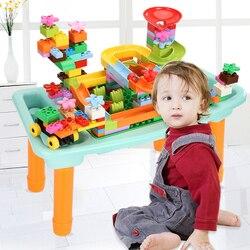200 sztuk klocki tabeli małe cegły biurko płyta podstawowa wielu funkcja DIY zabawki prezent dla dzieci
