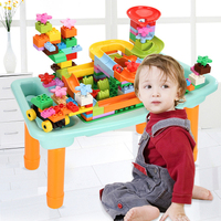 200pcs Building Blocks Table Small Bricks Desk Base Plate Multi Function DIY Toys Gift For Kids