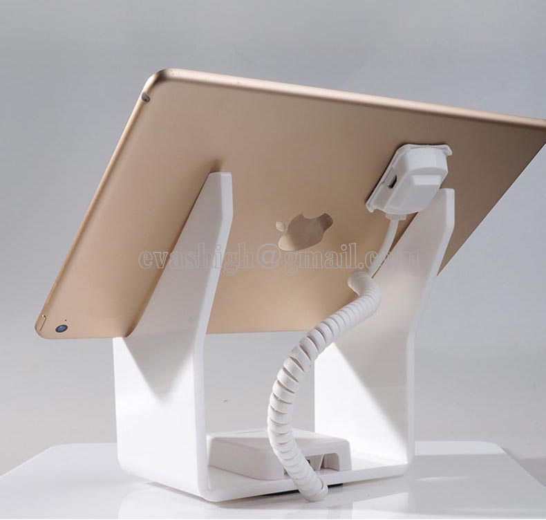 10xTablet security alarm Ipad display stand andriod anti theft holder charging apple mount devices for retail phone shop sales wholesale price mobile phone anti theft alarm display stand with charging for exhibition