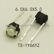 30 шт., 6x6x 5/4.3 мм, средний 2-контактный DIP, длинный контактный, Мини кнопочный переключатель, звуковая плата, монтажный моментальный тактовый пе...