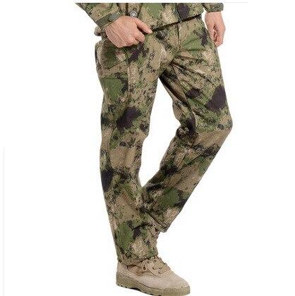 TAD Outdoor Climbing Hunting Military Tactical Soft shell Pants Men Sharkskin waterproof keep warm fleece Soft shell pants
