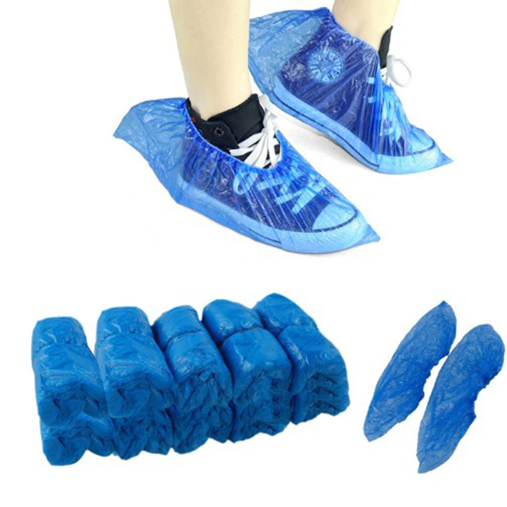 Free Shipping One-Time Waterproof 20Pcs Medical Waterproof Boot Covers Plastic Disposable Shoe Covers Overshoes free shipping 20pcs cs1694eo