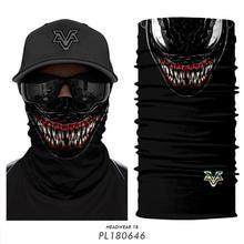 3D бесшовная бандана мотоциклетная маска для лица Marvel для шеи велосипедная бандана Venom Deadpool повязка на голову походные шарфы Лыжная Балаклава
