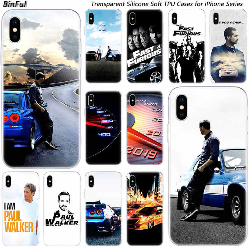 Hot Paul Walker Fast & Furious Siliconen Fashion Case voor Apple iPhone 11 Pro XS MAX XR X 7 8 plus 6 6s Plus 5 5C 5S SE TPU Cover