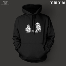 Star wars force awakens BB-8 R2D2 men unisex pullover hoodie sweatershirts 82% cotton fleece inside high quality free shipping