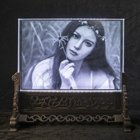 Rectangle Crystal Photo Frame Customized Glass 3D Laser Engraved Picture Frame DIY Wedding Family Photo Album For Gifts