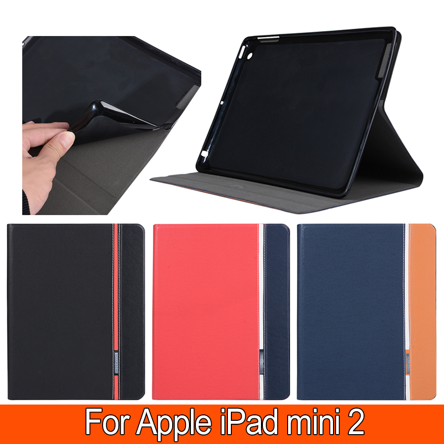 New Fashion Cover For Apple ipad mini 2 Magnetic Auto Wake Up Sleep Flip Case For ipad mini2 Cover with Smart Stand Holder