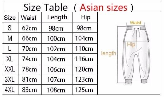 Sweatpants Size
