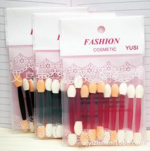 1bags Graceful 10pcs/bag Eye Shadow Sponge Brushes Cosmetic Tool Sponge & Plastic Makeup Sticks colorful(China)
