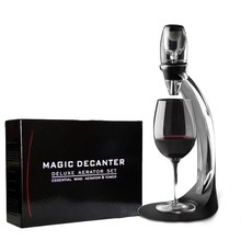 Magic Wine Decanter Red Wine Aerator Decanter Essential Set With gift box Hopper And Filter itop handmade household red wine decanter wood decanter 6 seconds wine processors with battery
