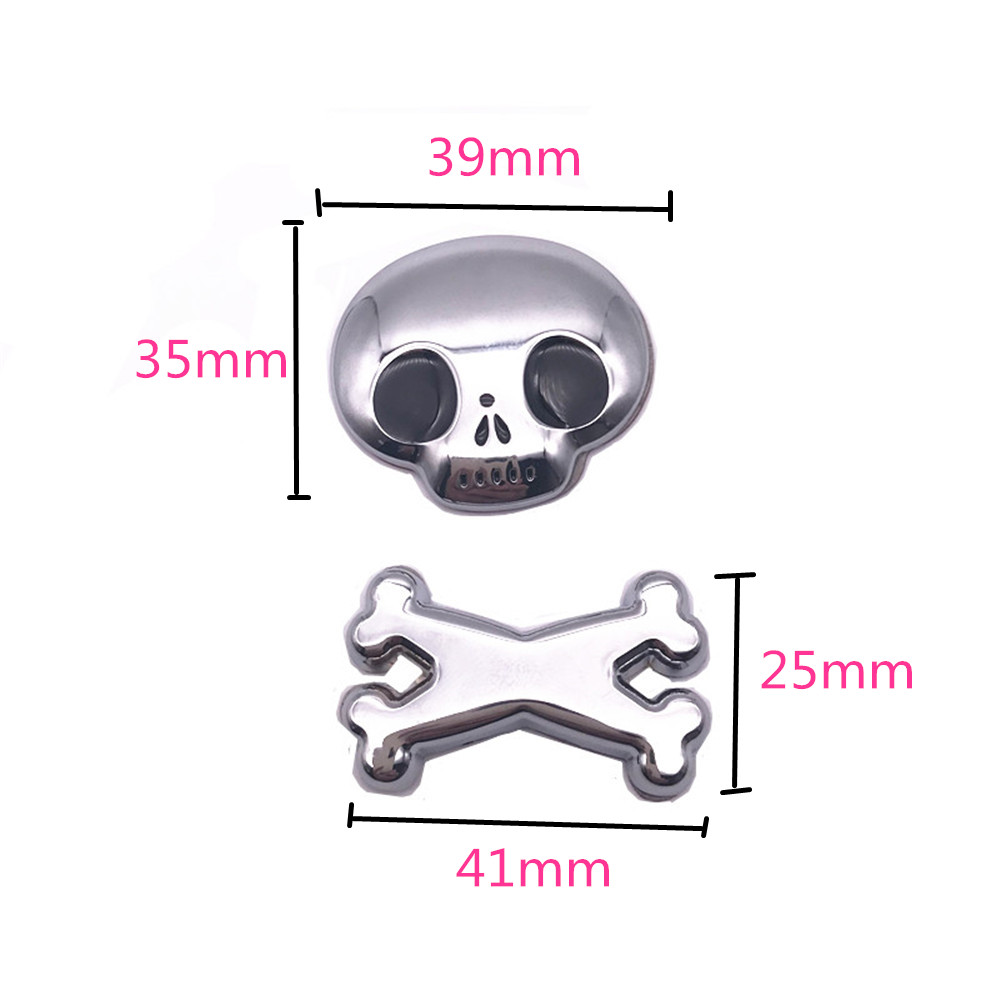 Hot Selling 3D Skull Car Sticker Metal Auto Car Moto Motorcycle sticker Decal Sticker Car Styling For All Car