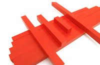 New Wooden Baby Toys Montessori Kids Toy Baby Wood Long Red Bars 100 cm Learning Educational Preschool Training Baby Gifts