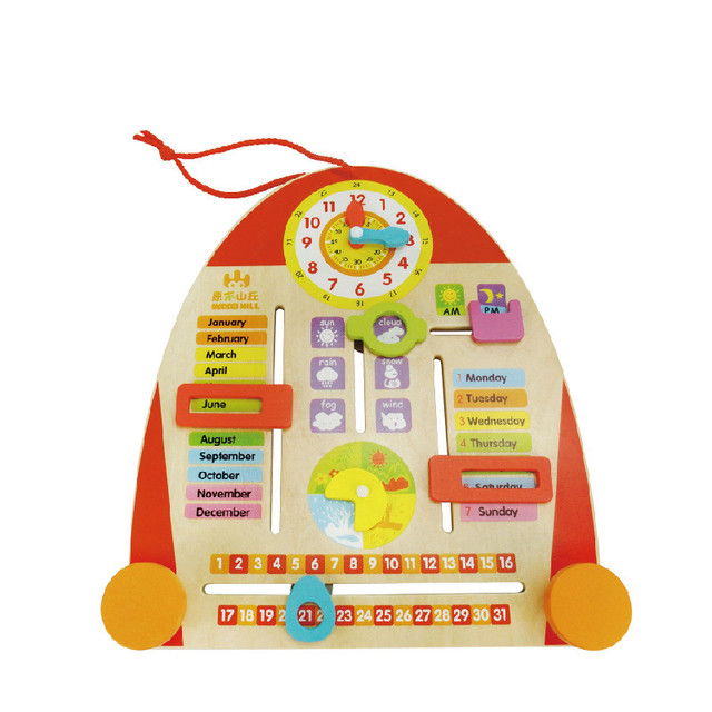 Calendario Legno Bambini.Us 30 4 5 Di Sconto Nuovo Bambino Giocattoli Di Legno Calendario Bordo Giocattoli Educativi Per Bambini Regali Per Bambini In Nuovo Bambino