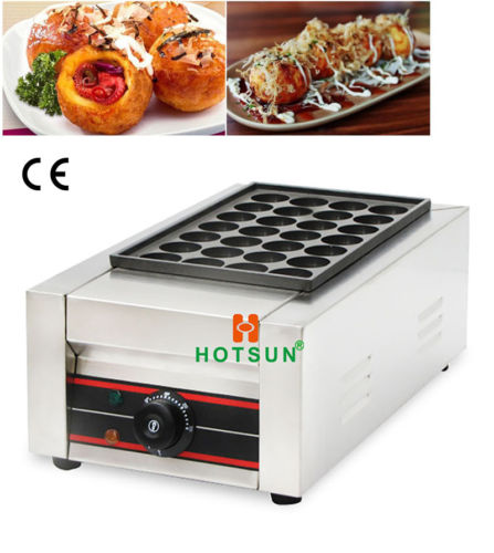 Commercial Electric Japanese Takoyaki Grill Octopus Fish Ball Maker Iron Baker free shipping commercial non stick 110v 220velectric 16pcs 4cm japan octopus ball takoyaki grill baker maker machine