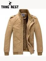 TANGNEST Popular 2018 New Men Jacket Plus Velvet Solid Color Top Quality Jacket Men Winter Warm Jacket Asian Size 3XL MWJ193