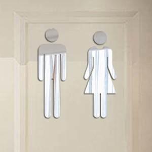 Toilet-Stickers Entrance-Sign Bathroom Funny Wall Wall-Dzq90307 WC DIY 3D Men Women
