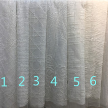 All white glitter design unique French Nigerian Lace Fabric H-91 High Quality glitter Tulle for wedding dress
