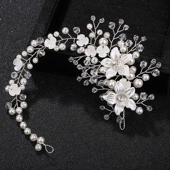 Bijoux de cheveux fleurs en céramique pour femmes