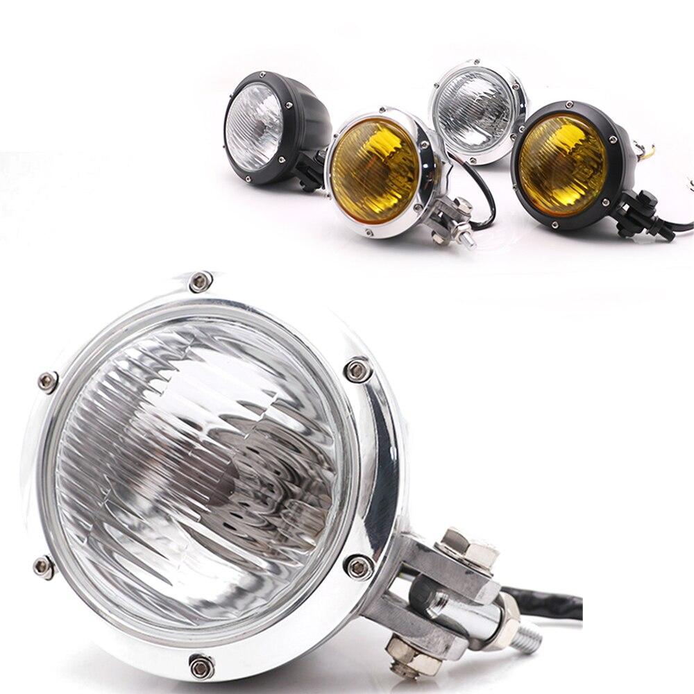 Phare de moto Vintage mark E4 rétro tête lumière support inférieur pour Harley café Racer Chopper Bobber Sportster