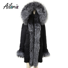 Ailoria Brand 2017 Winter Women Real Fox Fur Coats hooded 100% Genuine Natural Jackets lady's Parka