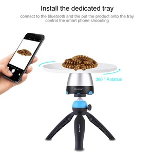 Image 3 - PULUZ Electronic 360 Degree Rotation Panoramic Head with Remote Controller &Tripod Mount &Phone Clamp for Smartphones,GoPro,DSLR
