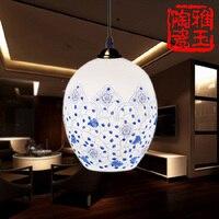 5-40 W LED di Lusso Antico Soggiorno Sala Da Pranzo E27 90-260 V Grande Uovo di Anatra interblocco Ramo Lotus Porcellana Luce Del Pendente
