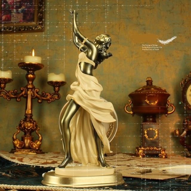 Buy elegant dancing lady figurine statue for Room decor embellishment art