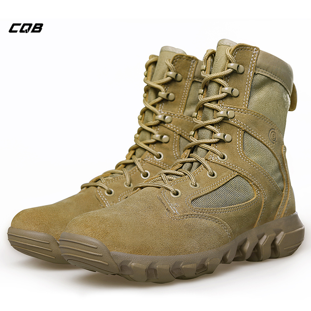 CQB Outdoor Sports Tactical Combat Boots Men s Lightweight Trekking Hiking  Boots Wear-resisting Shoes for Hunting Climbing d63102bd8c