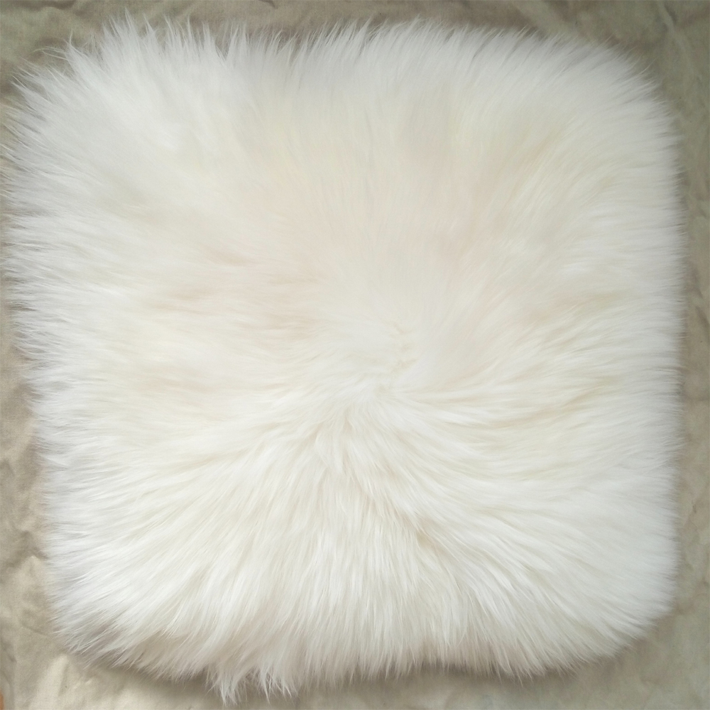 White Super Faux Sheepskin Fur Cushion Cover Home Decor