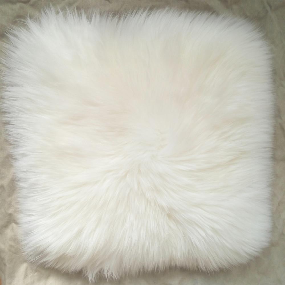 26 X 26 White Faux Fur Pillow Covers