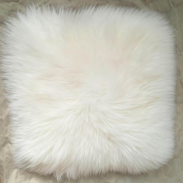 Online Shop White Super Faux Sheepskin Fur Cushion Cover Home Decor