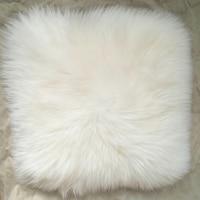 White Super Faux Sheepskin Fur Cushion Cover Home Decor Sheepskin Pillow Cover Decorative Pillows Covers Faux Fur pillowcases