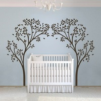Vinyl Nursery Tree Sticker Tree Canopy Portal Wall Decal Tree Wall Graphic Wall Mural Home Wall Art Decoration White