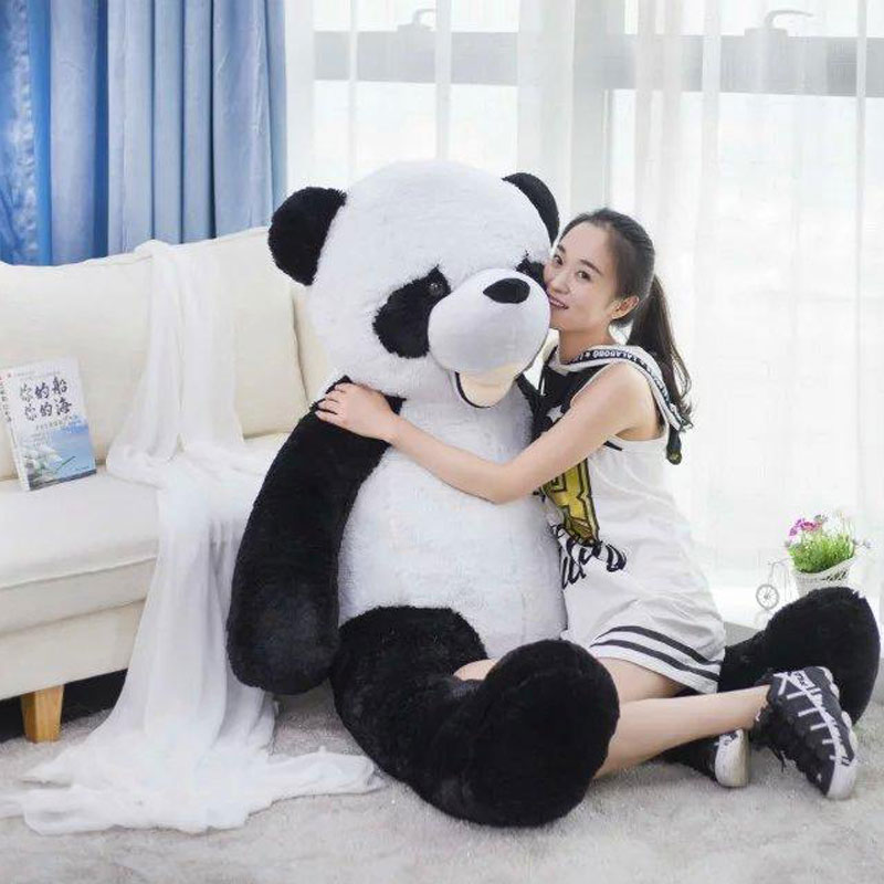 300CM Giant Smile Panda America Big Panda Bear Stuffed Plush Panda Bear Doll Toys Comfortable Cushion Pillow for Girlfriend Gift northern europe style double 3d printing ins doll plush sofa stuffed animal child toys birthday xams gift dash pillow cushion