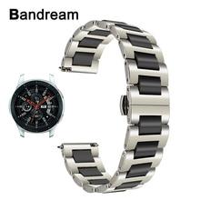 Ремешок из керамики и нержавеющей стали для Samsung Galaxy Watch 46 мм