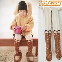 Pants Tights Stockings Spring Baby-Girl Cotton Children Kawaii Autumn Cartoon Fox