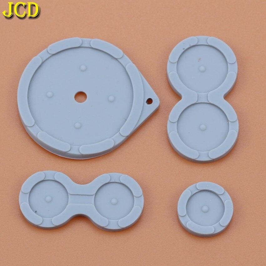 Jcd 1 conjunto de borracha botões condutores para nintend jogo menino avanço sp para gba sp silicone almofadas botões