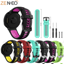 Outdoor Sports Silicone Replacement Watch Strap Wrist band for Garmin Forerunner 230 235 220 620 630 735 Smart