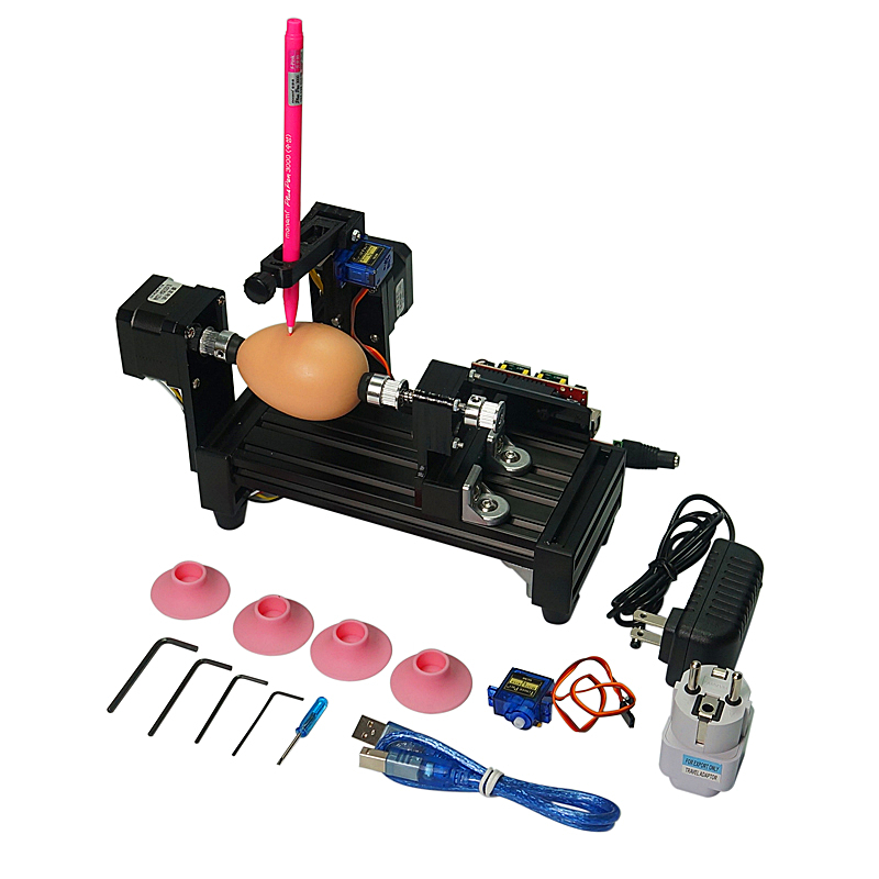 For Children LY Normal Size Eggbot Egg-drawing Robot Spheres Drawing Machine For Drawing Egg And Ball