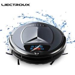 LIECTROUX جهاز آلي لتنظيف الأتربة B3000 شاشة LED باللمس الذاتي إعادة شحن شفط منفذ التحكم عن بعد مكافحة سقوط الاستشعار