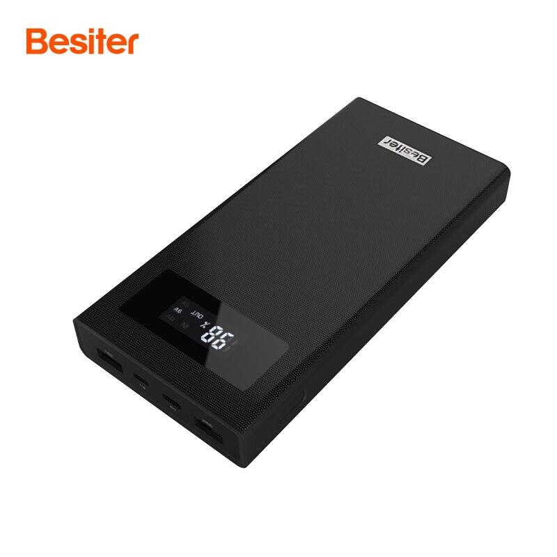 Besiter Baterías portátiles 20000 MAH para Xiao mi 2 carga rápida 3.0 cargador portátil powerbank batería externa para el iPhone pover banco